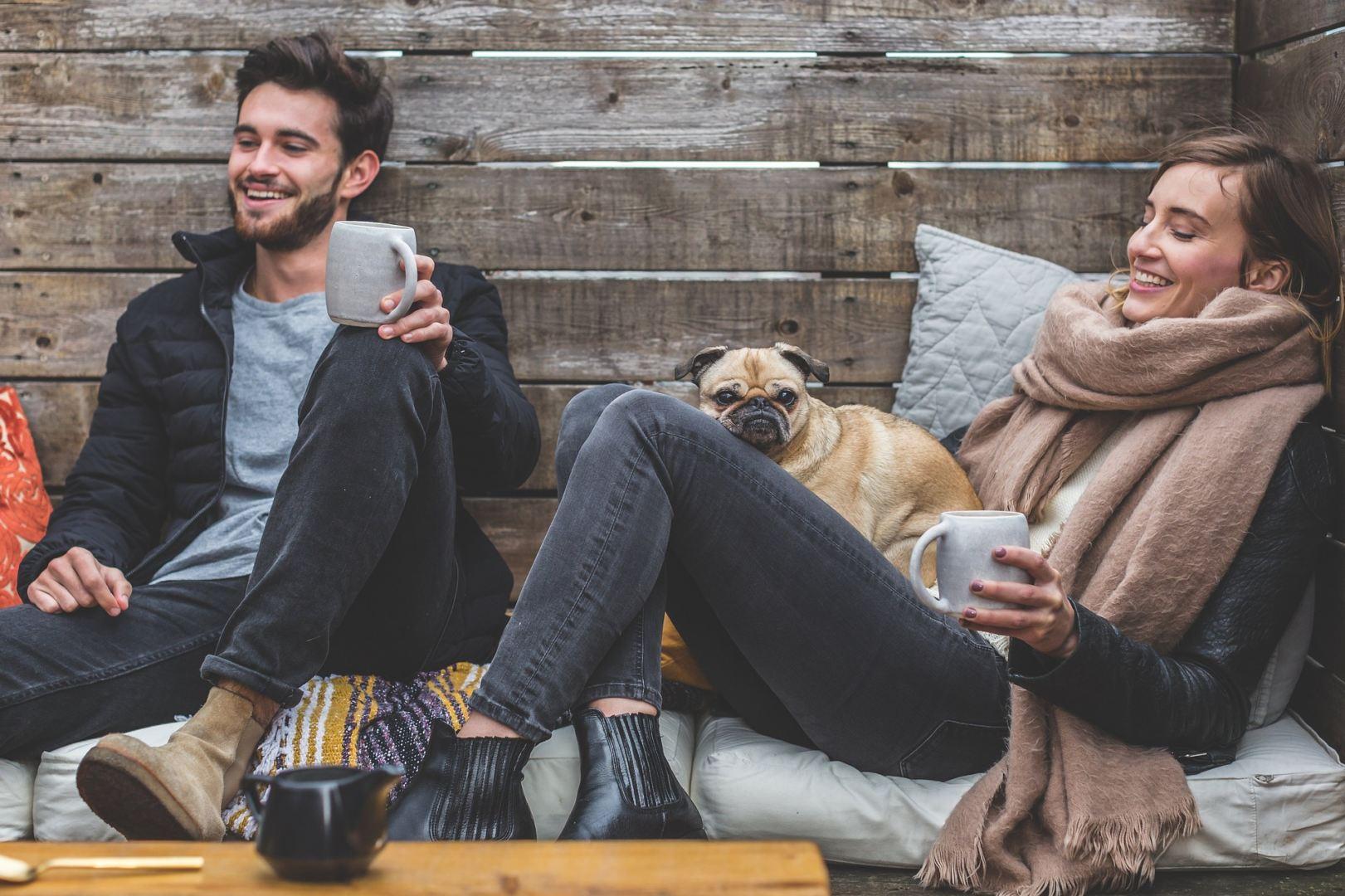 Leben mit Hund und Frau